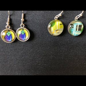 Jewelry - Two pairs of colorful earrings
